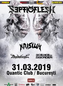 Septicflesh, Krisiun, Diabolical, Science of Disorder