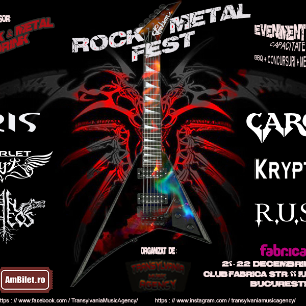 ROCK & METAL FEST 21 - 22 DECEMBRIE