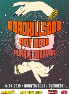 Roadkillsoda, Riot Monk si Purple Caravan la Bucuresti