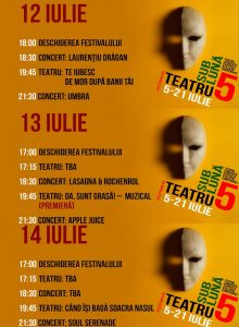 Festivalul Teatru Sub Luna -12-14 iulie