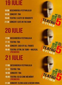 Festivalul Teatru Sub Luna -19-21 iulie