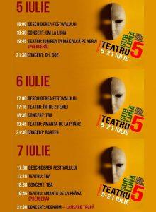 Festivalul Teatru Sub Luna -5-7 iulie