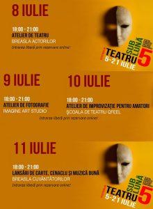 Festivalul Teatru Sub Luna -8-11 iulie la Teatru InDArt