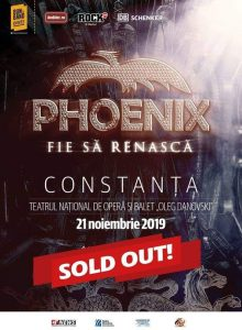 Phoenix – Fie sa renasca Tour 2019 (Constanta)