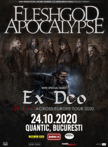Fleshgod Apocalypse, Ex Deo la Bucuresti