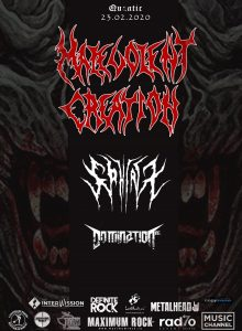 Malevolent Creation [USA] /Domination Inc.[GR] /Sphinx [UK]