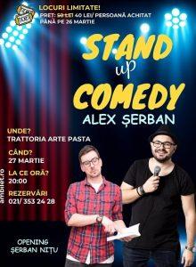 Stand up comedy cu Alex Serban si Bogdan Nitu